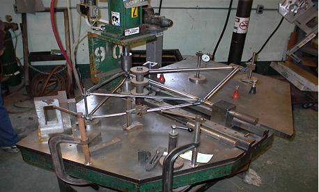 a students frame on the alignment table