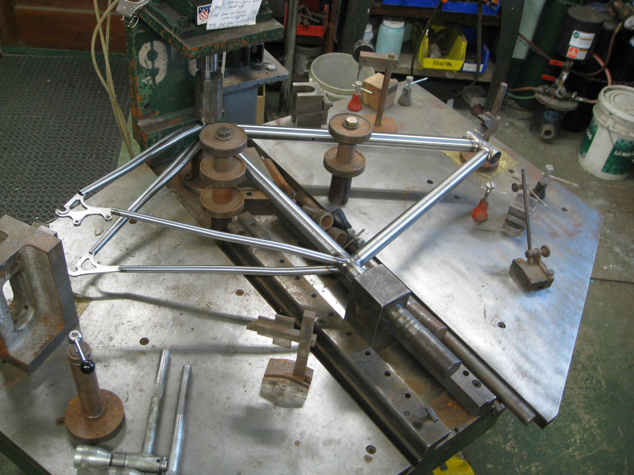 frame on the alignment table