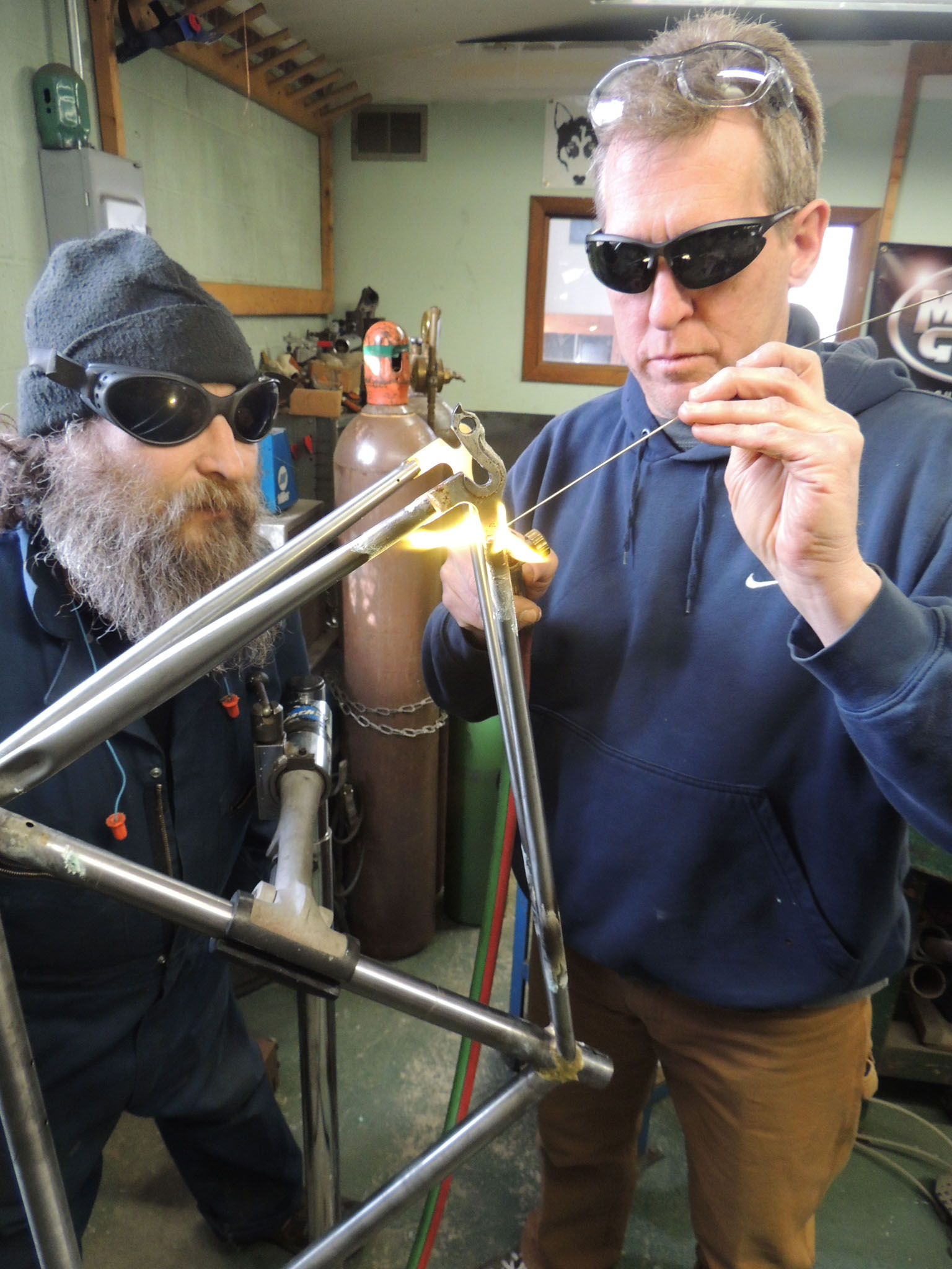 brazing drop outs